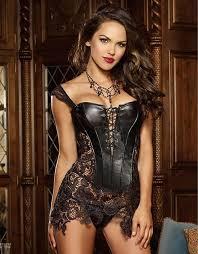Leather fashion sexy woman