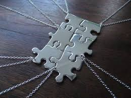 puzzle piece necklace bridesmaid gifts
