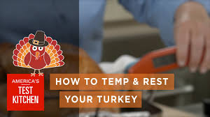 American Test Kitchen Turkey Best Thanksgiving How To Temp And Rest Your Turkey Youtube
