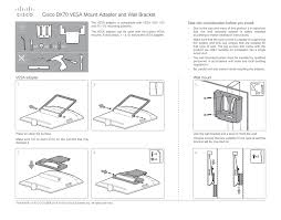 Vesa Mounting Pattern New Cisco DX48 VESA Mount Adapter And Wall Bracket