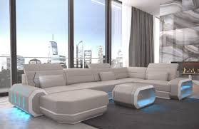 Wohnlandschaft U Form Leder Bewundernswert Sofa