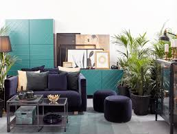ikea furniture ideas. A Midnight Tropical Paradise In Rich Dark Tones With Brass And Gold Accents Ikea Furniture Ideas