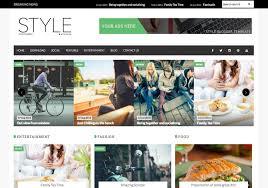 Style Templates Style Magazine Blogger Template Blogspot Templates 2019