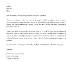 Proof Of Employment Letter Template Confirmation Job Interview