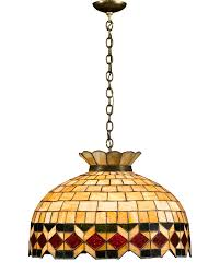 Antique Lighting Tiffany Style Hanging Lamp Stained Glass