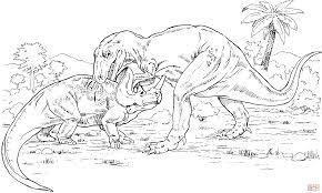 Coloriage Gorgosaure Contre Monoclonius Coloriages Imprimer