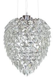 contemporary large multi faceted teardrop shaped crystal chandelier