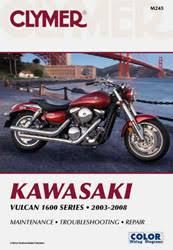 kawasaki motorcycle manuals diy repair manuals clymer kawasaki vulcan 1600 series motorcycle 2003 2008 service repair manual