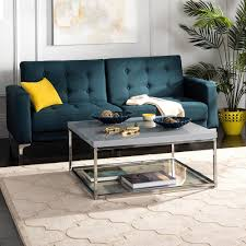 malone chrome high gloss gray coffee table