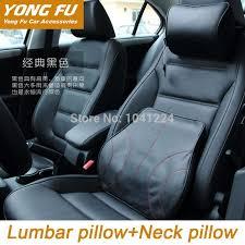 car covers car pillow lumbar back support cushion genuine cowhide leather memory foam car headrest neck pillow car styling black car cushion car pillow