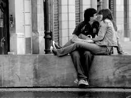 Romantic Couple Love Black and White ...