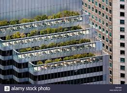 aerial view above roof top gardens and balconies shaklee terraces one front st san francisco california