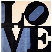 Large Robert Indiana Rug Limited Edition