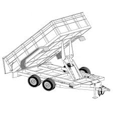Tipping Box Trailer Designs 64 X 12 Hydraulic Dump Trailer Plans Model 12hd Dump