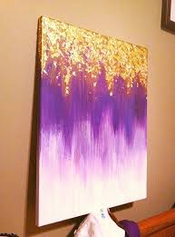 DIY painted canvas with shimmer accent.