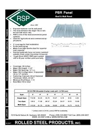 Pbr Panel Rolled Steel Products
