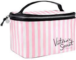 victoria s secret new vs pink stripes train case cosmetic makeup bag image 0