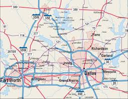 map of dfw metroplex  map dfw metroplex (texas  usa)