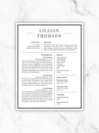 Microsoft Template Resume Inspiration Professional Resume Template For Word Pages CV Template Etsy