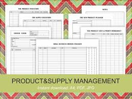 Business Planner Printable Pdf Product Inventory Order Form Order Tracker New Product Planner Cost Profit Worksheet A4 Planner For Business