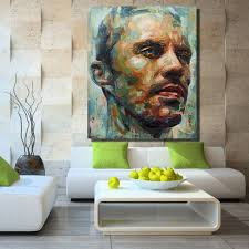 hdartisan wall decor paul walker custom portrait original oil painting on canvas wall art home decor in painting calligraphy from home garden on