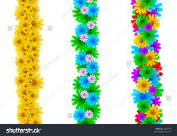 Small Picture Colorful Floral Design Elements Page Borders Stock Illustration