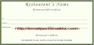 restaurant gift certificates templates free printable food certificate template word microsoft