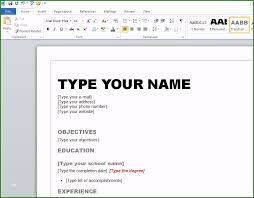 How To Type References For Resume How To Type Resume In Microsoft Word Beautiful How To Create