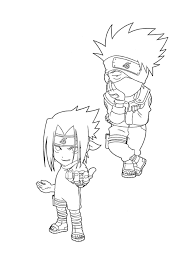Naruto Coloring Pages Kakashi And Sasuke Cartoon Coloring Pages Of