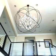 chrome orb chandelier polished chrome orb chandelier crystal