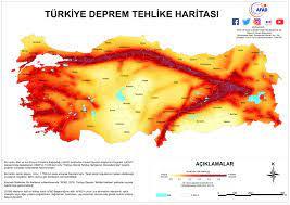 2019 Türkiye'nin Deprem Haritası ve Deprem Bölgeleri yayınlandı - Menemen  Haber Menemen Gazetesi