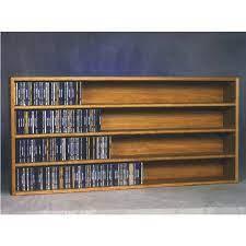 wood shed solid oak wall mount cd racks