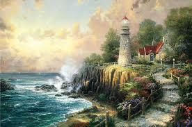 the light of peace painting thomas kinkade the light of peace art print