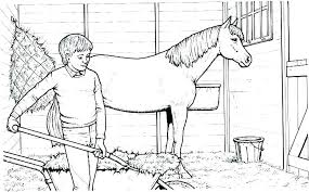 Realistic Race Horse Coloring Pages Horse Coloring Sheets Free