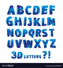 3d alphabet letter vector image