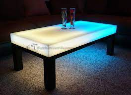 led lighted lounge coffee table