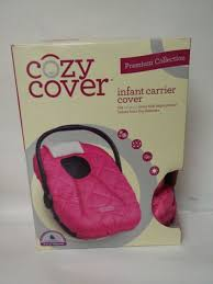 cozy cover premium collection infant car seat cover with polar fleece pink