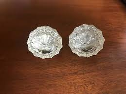 vintage architectural antique reclaimed 12 point glass door knobs very nice