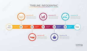Infographic Timeline Template For Business Workflow Layout