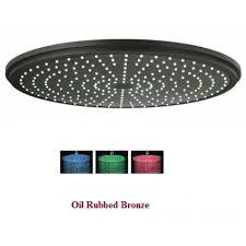 oil rubbed bronze led rain shower head. 12\ oil rubbed bronze led rain shower head o