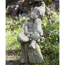 garden fairies statues. Campania International Jenny The Elf Cast Stone Garden Statue   Hayneedle Fairies Statues