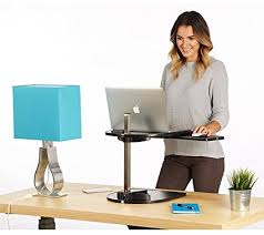 standing desk for laptop. Modren Desk Laptop Stand  Adjustable Height Standing Desk Supports Single Monitor Or  Laptop  Small Footprint Rises Intended Standing Desk For E