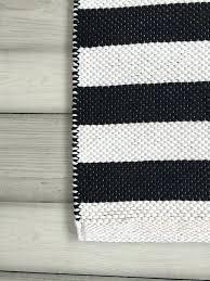 black white rugs runner woven rug blue and striped