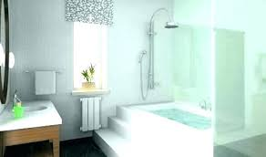 modern bathtub shower combo inspiring tub and images best corner with from faucets modern tub shower
