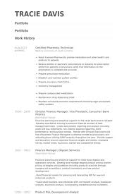 Resume Examples For Pharmacy Technician Awesome Certified Pharmacy Technician Resume Samples VisualCV Resume