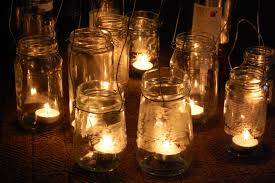 Mason Jar Candle Holders Candles In Jam Jars Househome Pinterest Weddings And Wedding