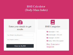 Bmi Categories Bmi Body Mass Index Calculator By Khan Mohsin On Dribbble