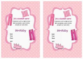 sleepover birthday invitations birthday printable sleepover birthday invitations