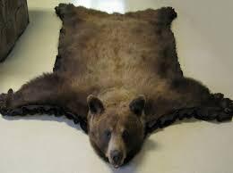 faux fur bearskin rug