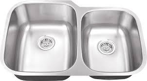 undermount kitchen sink stainless steel: m   gauge double bowl undermount stainless steel kitchen sink